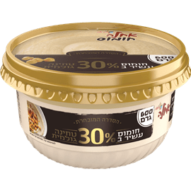 חומוס עשיר ב30% טחינה