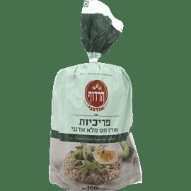 פריכיות אורז מלא אורגני