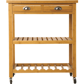 עגלת עץ למטבח
