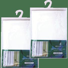 זוג וילונות אמבט לבנים