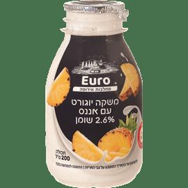 משקה יוגורט עם אננס 2.6%