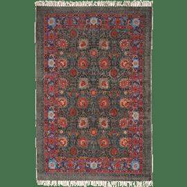 שטיח כותנה מודפס פרחוני