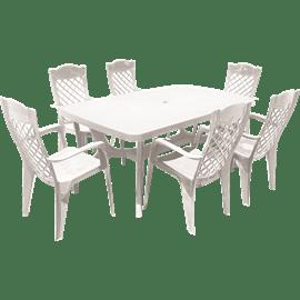 סט שולחן בולטימור+6כסאו