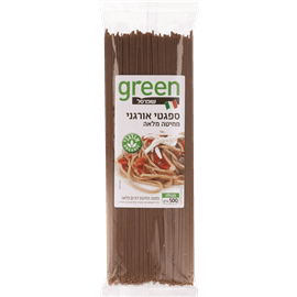 ספגטי מלא אורגני גרין