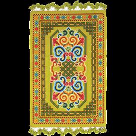 שטיח כותנה מודפס ליים