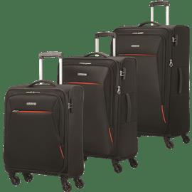 סט 3 מזוודות בד 4 גלגלים
