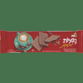 בפלות דקיקות בטעם שוקולד