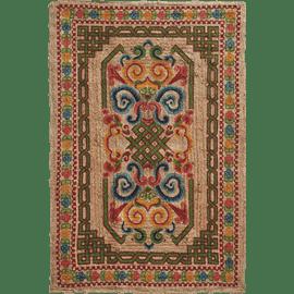 שטיח יוטה מודפס טבעי