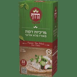 פריכיות אורז דקות אורגני