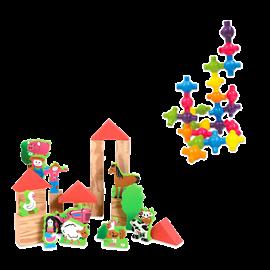סט 2 משחקי בניה