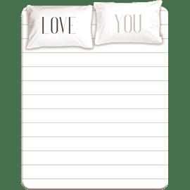 סדין+זוג ציפיות love