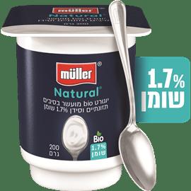 יוגורט מולר לבן ביו 1.7%