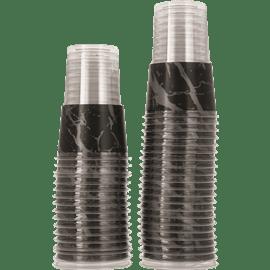 כוס גרניט כסף שחור