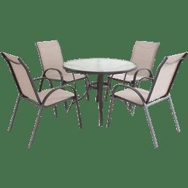 סט שולחן עגול 4 כסאות