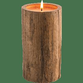 נר בכלי עץ