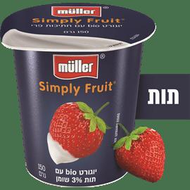 יוגורט תות+חתיכות פרי 3%