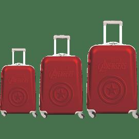 סט3 מזוודות ABS אדום