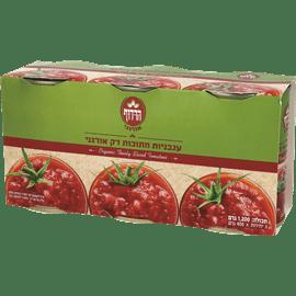 עגבניות חתוכות דק
