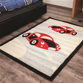 שטיח מכוניות אדום