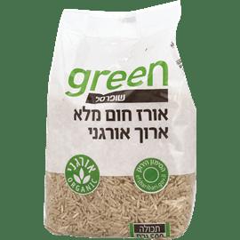 אורז חום ארוך מלא אורגני