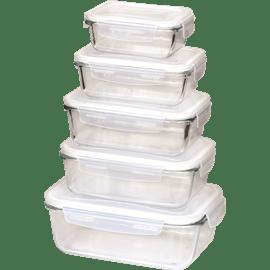סט קופסאות אחסון זכוכית