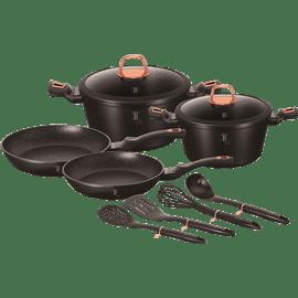 סט כלי בישולblack/burgun