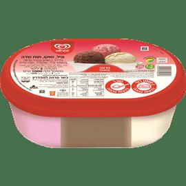 גלידה משפ' 3טעמים פרווה
