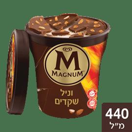 גלידה מגנום וניל שקדים