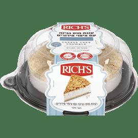 עוגת מוס גבינה פירורים