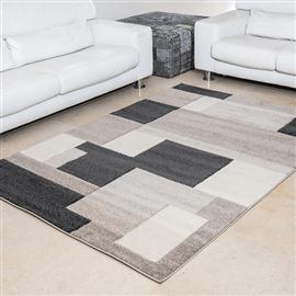 שטיח פיקסו ריבועים בז