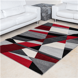 שטיח פיקסו אבסטרקט אדום