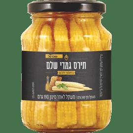 תירס גמדי חומץ+דבש צנצנת