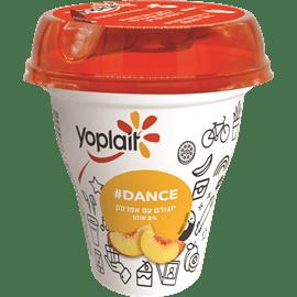 יוגורט בכוס+קשית אפרסק