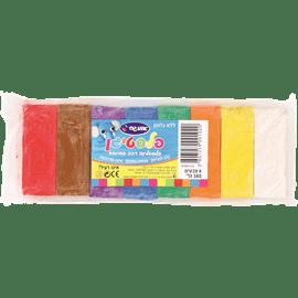 סט פלסטלינה 8 צבעים