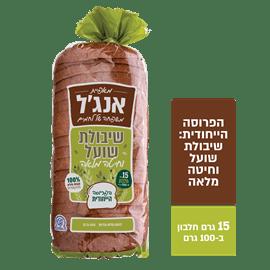 לחם שיבולת שועל+חיטה מלא