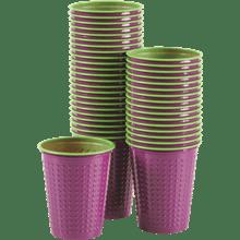 כוס דו צבעי סגול ירוק