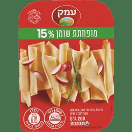 גבינת עמק15% פרוס בקופסא