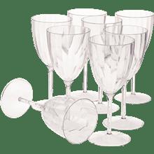 כוסות יין+רגל פסים