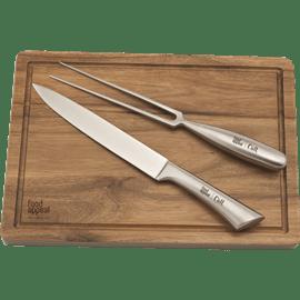 סט קרש+סכין+מזלג