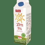 חלב 1% בקרטון שופרסל