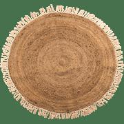 שטיח יוטה עם פרנזים