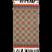 שטיח כותנה מודפס לינן
