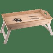 מגש עץ למיטה