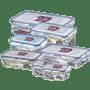 סט 7 קופסאות פלסטיק