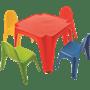סט שולחן ילדים + 4 כסאות