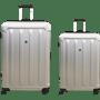 זוג מזוודות  ABS כסוף