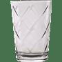 סט 12 כוסות זכוכית פסים