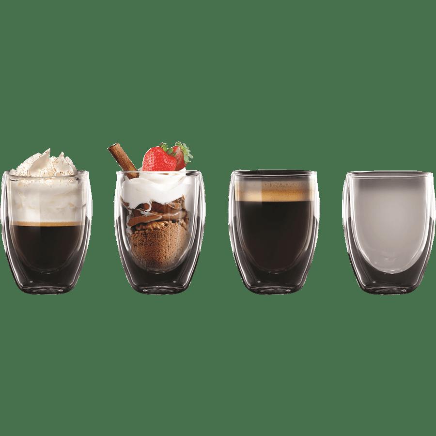 סט 4 כוסות דופן כפולה