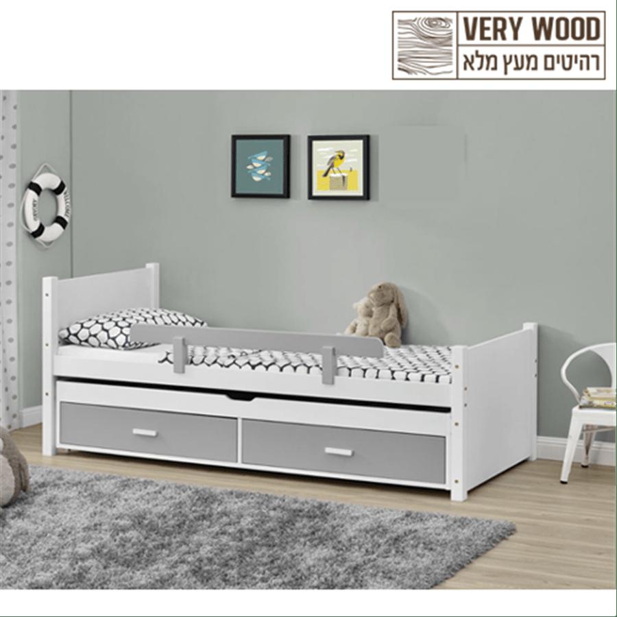 מיטת ילדים מעץ מלא ליאור