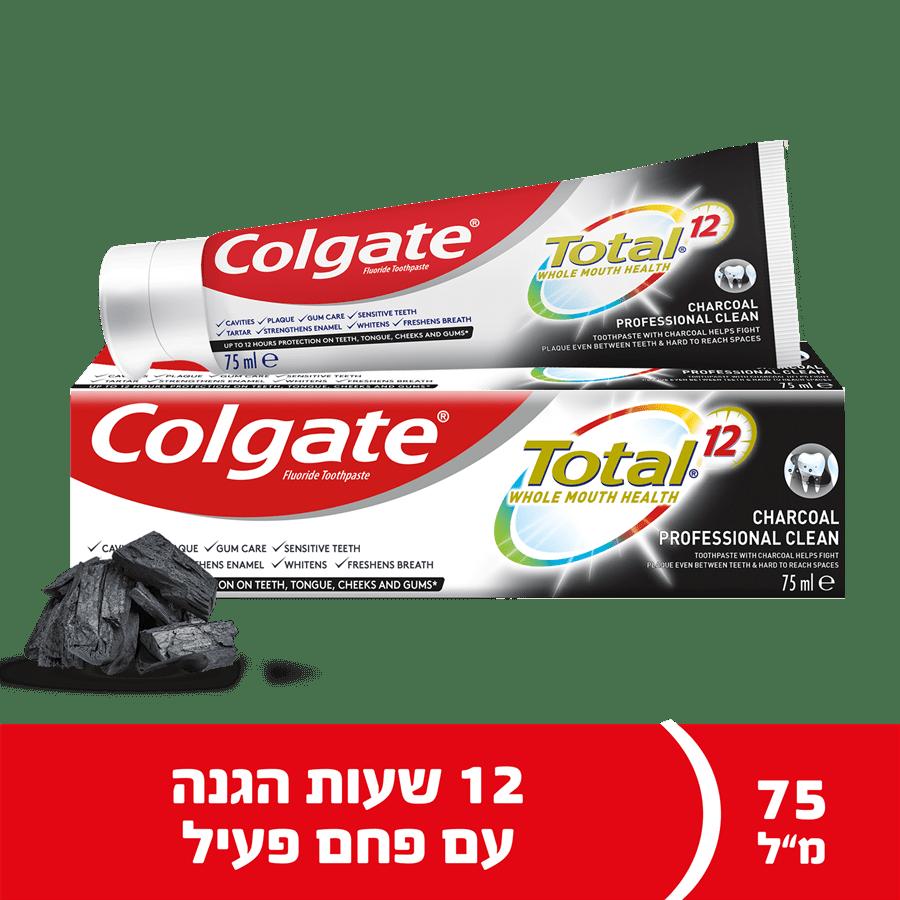 משחת שיניים טוטאל פחם